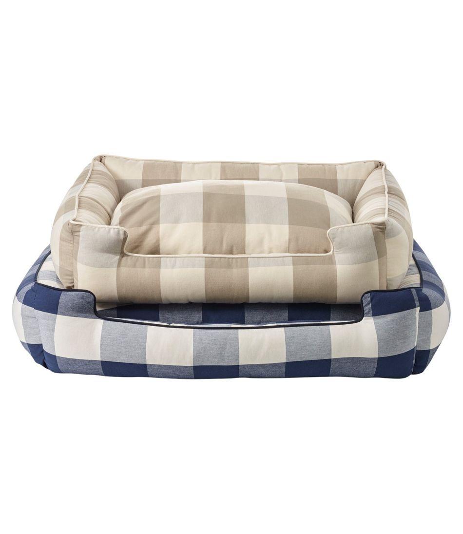 Lounge Dog Bed, Plaid