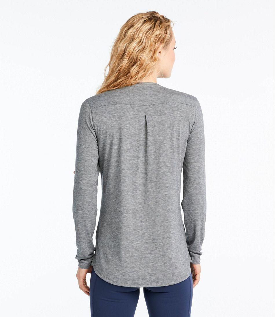 Women's Tencel Blend Long Sleeve Henley