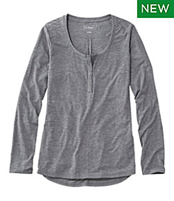 Women's Tencel Blend Long Sleeve Henley