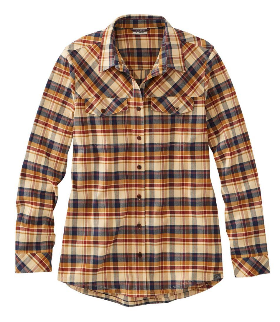 Cabin Stretch Flannel Shirt, Plaid