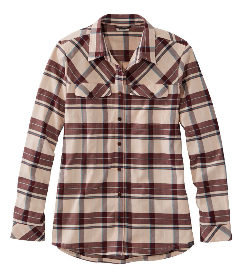 Women's Cabin Stretch Flannel Shirt, Plaid