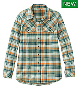 Cabin Stretch Flannel Shirt, Plaid
