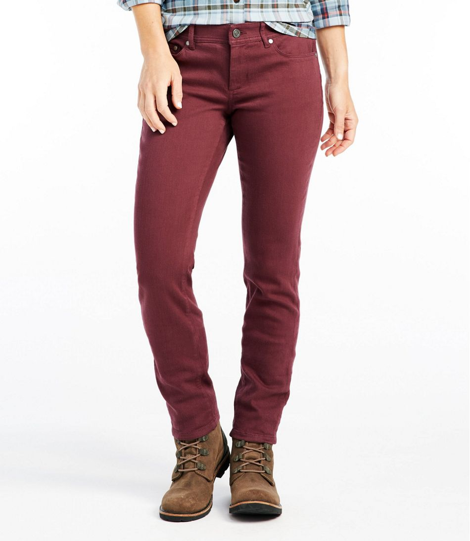 Bean's Performance Stretch Slim Leg Jeans, Color
