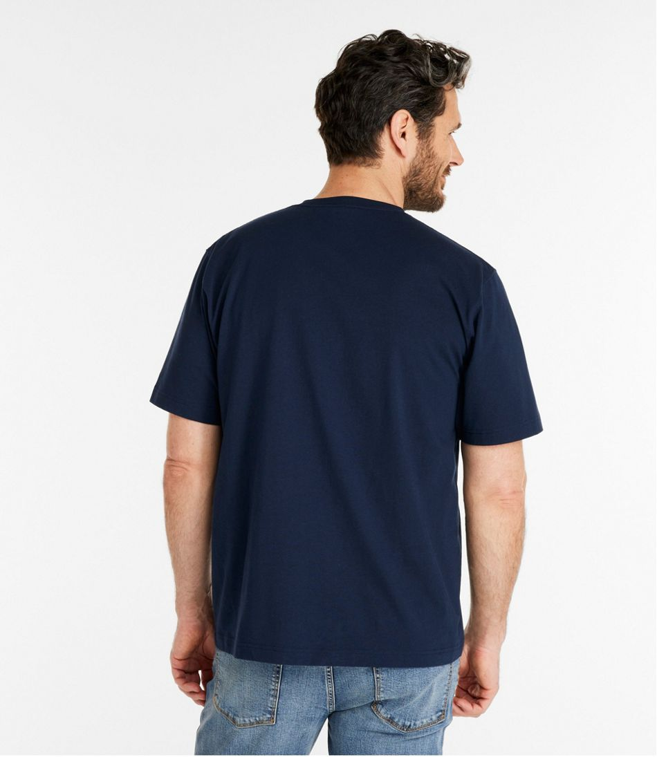 Men's Carefree Unshrinkable Tee, L.L.Bean Logo, Short-Sleeve
