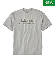 5aeef8614 Carefree Unshrinkable Tee, L.L.Bean Logo, Short-Sleeve
