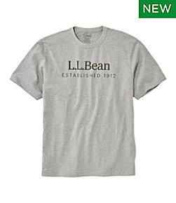 Carefree Unshrinkable Tee, L.L.Bean Logo, Short-Sleeve