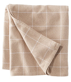 Maine-Made Cotton Blanket, Windowpane