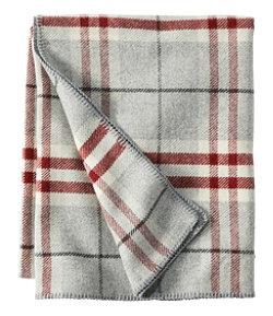 Washable Wool Blanket, Plaid
