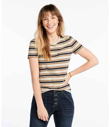 Signature Organic Vintage Pocket Tee, Stripe