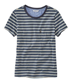 Women's Signature Organic Vintage Pocket Tee, Stripe