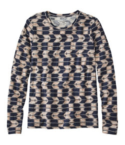 Women's Signature Essential Knit Tee, Long-Sleeve Print