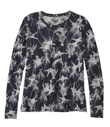 Signature Essential Knit Tee, Long-Sleeve Print