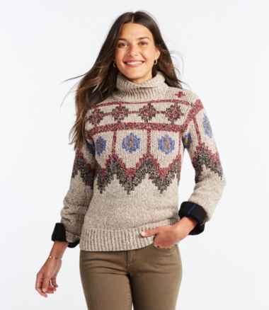Women's Signature Ragg Wool Sweater, Pullover Fair Isle