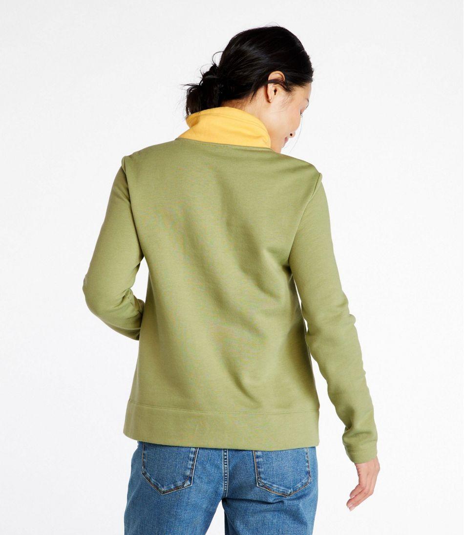 Women's Signature Organic Sweatshirt, Anorak Colorblock