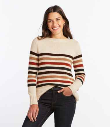 Women's Signature Washable Merino Boatneck Sweater, Stripe