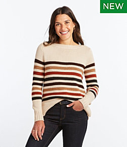 Signature Washable Merino Boatneck Sweater, Stripe