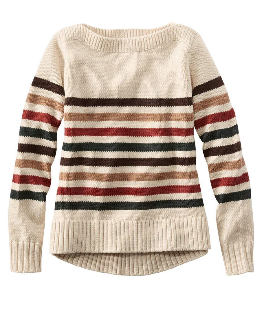 Signature Washable Merino Boatneck Sweater, Stripe