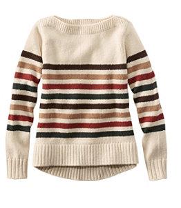 Women's Signature Washable Merino Boatneck Sweater, Stripe