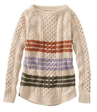 Women's Signature Cotton Fisherman Tunic Sweater, Stripe