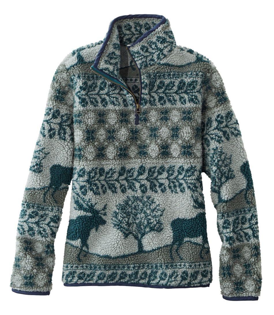 Signature Sherpa Fleece Pullover, Quarter-Zip Jacquard