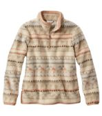 Signature Sherpa Fleece Pullover, Quarter-Zip Jacquard