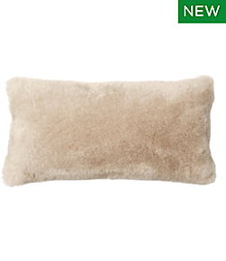 "Shearling Throw Pillow, 11""x22"""