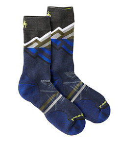 Men's SmartWool PhD Outdoor Medium Pattern Crew Socks