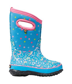 Kids' Bogs Classic Boots, Rainbow