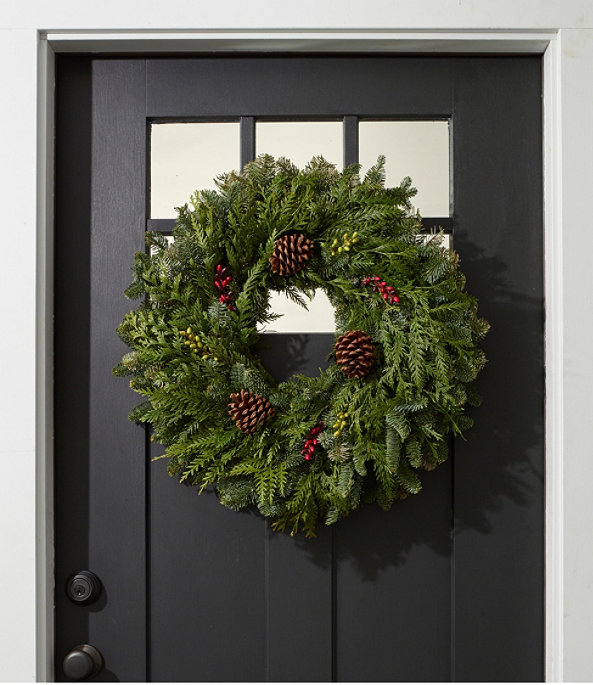 """Woodland Berry Wreath 24"""", One Color, large image number 0"""