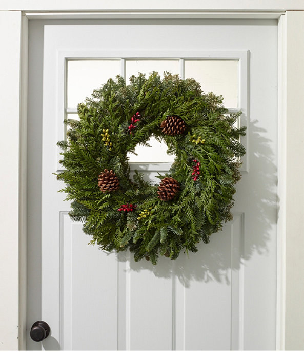 """Woodland Berry Wreath 24"""", One Color, large image number 1"""