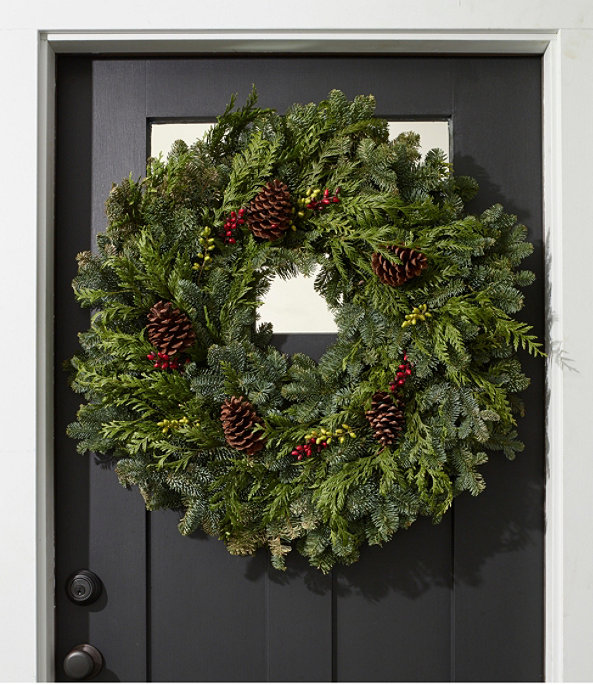 """Woodland Berry Wreath 30"""", One Color, large image number 0"""