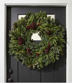 "Christmas Woodland Berry Wreath, 30"""