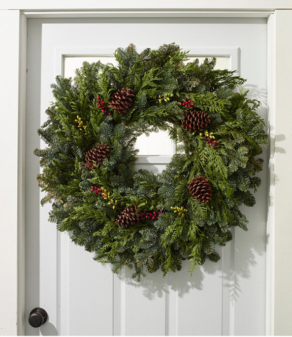 """Woodland Berry Wreath 30"""", One Color, large image number 1"""