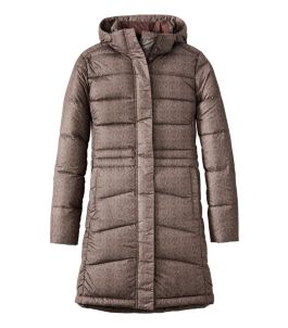 Women's Warm Core Down Coat, Print
