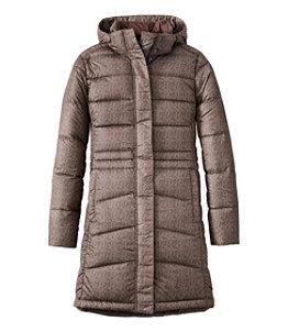 Women's Warm Core Down Coat, Print