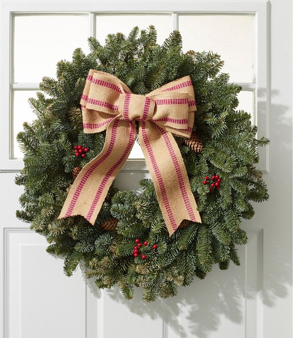 Christmas Burlap Bow Wreath