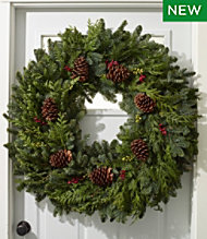 Christmas Woodland Berry Wreath, 36""