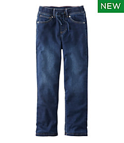 Kids' L.L.Bean Pull-On Stretch Jeans, Lined