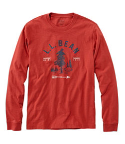 Men's Lakewashed Organic Cotton Graphic Tee, Long-Sleeve