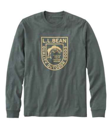 Men's Lakewashed® Organic Cotton Graphic Tee, Long-Sleeve
