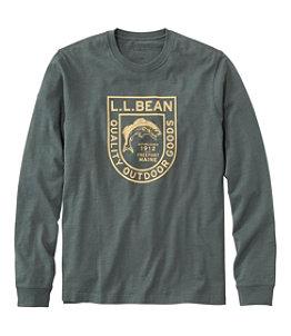 Men's Lakewashed Organic Cotton Graphic Tee, Long-Sleeve