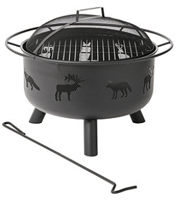 Backyard Wildlife Fire Pit and Grill