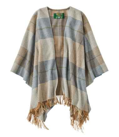 Women's L.L.Bean Poncho Scarf, Plaid