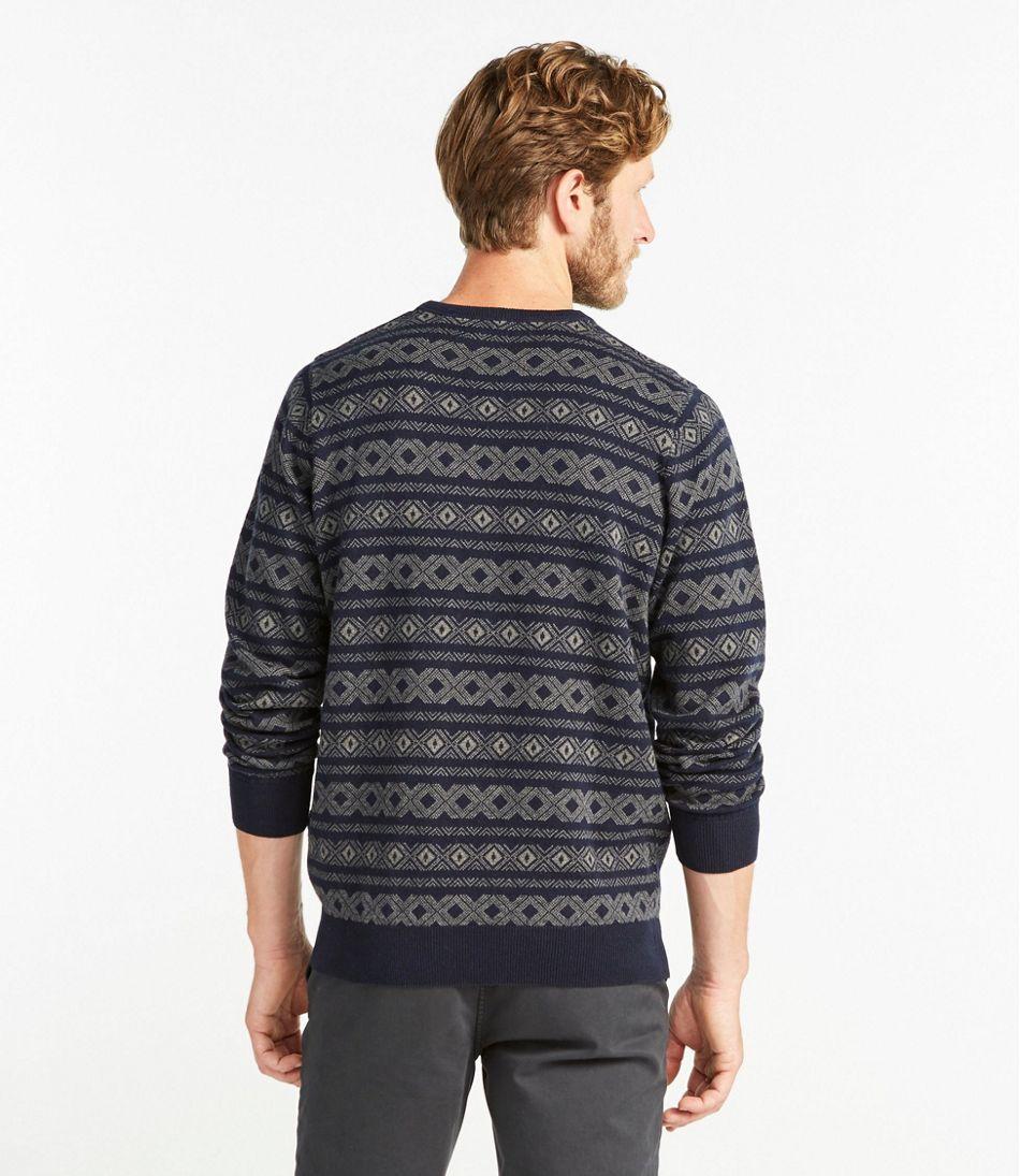 Cotton/Cashmere Sweater Crewneck, Fair Isle