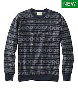 Cotton/Cashmere Sweater Crewneck, Fair Isle