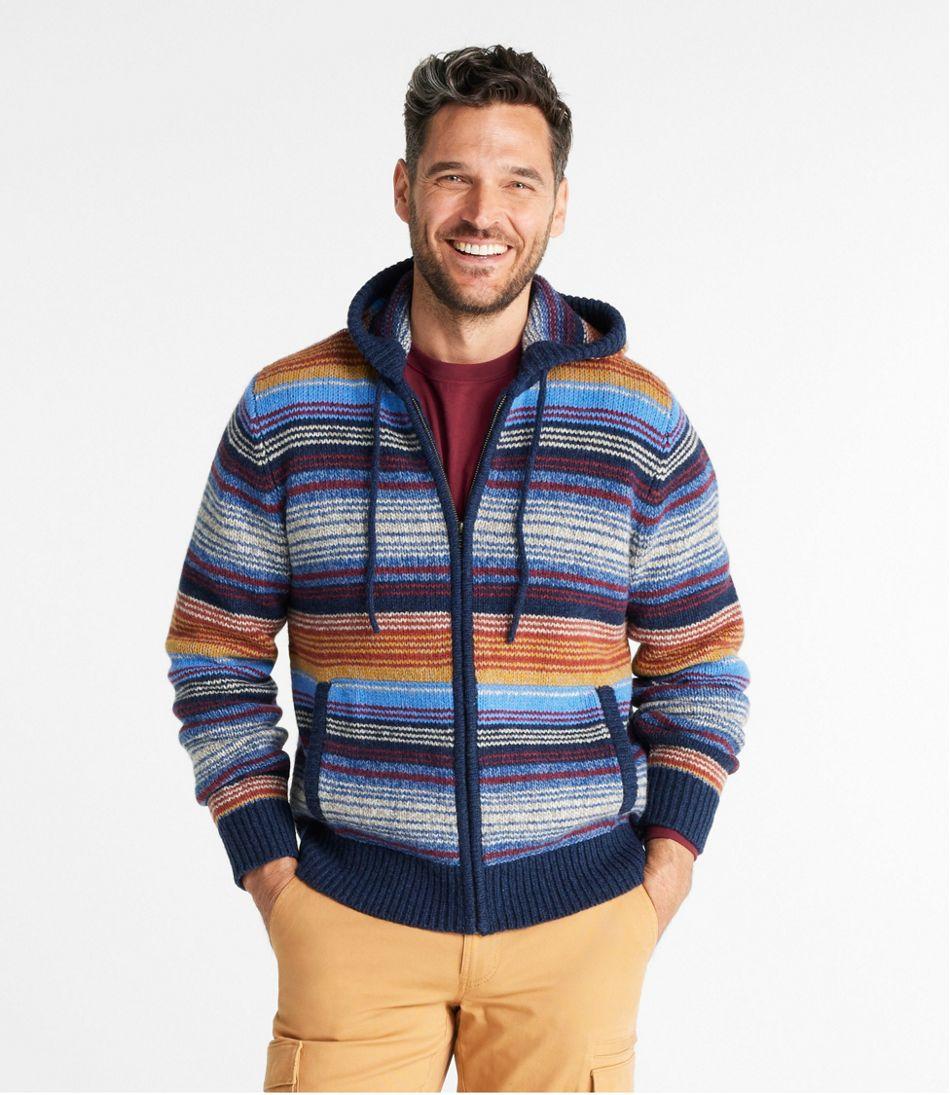 L.L.Bean Classic Ragg Wool Sweater, Zip Hoodie, Stripe