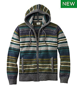 L.L.Bean Classic Ragg Wool Sweater, Zip Hoodie, Stripe