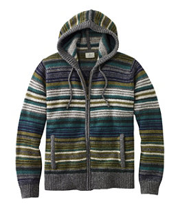 Men's L.L.Bean Classic Ragg Wool Sweater, Zip Hoodie, Stripe