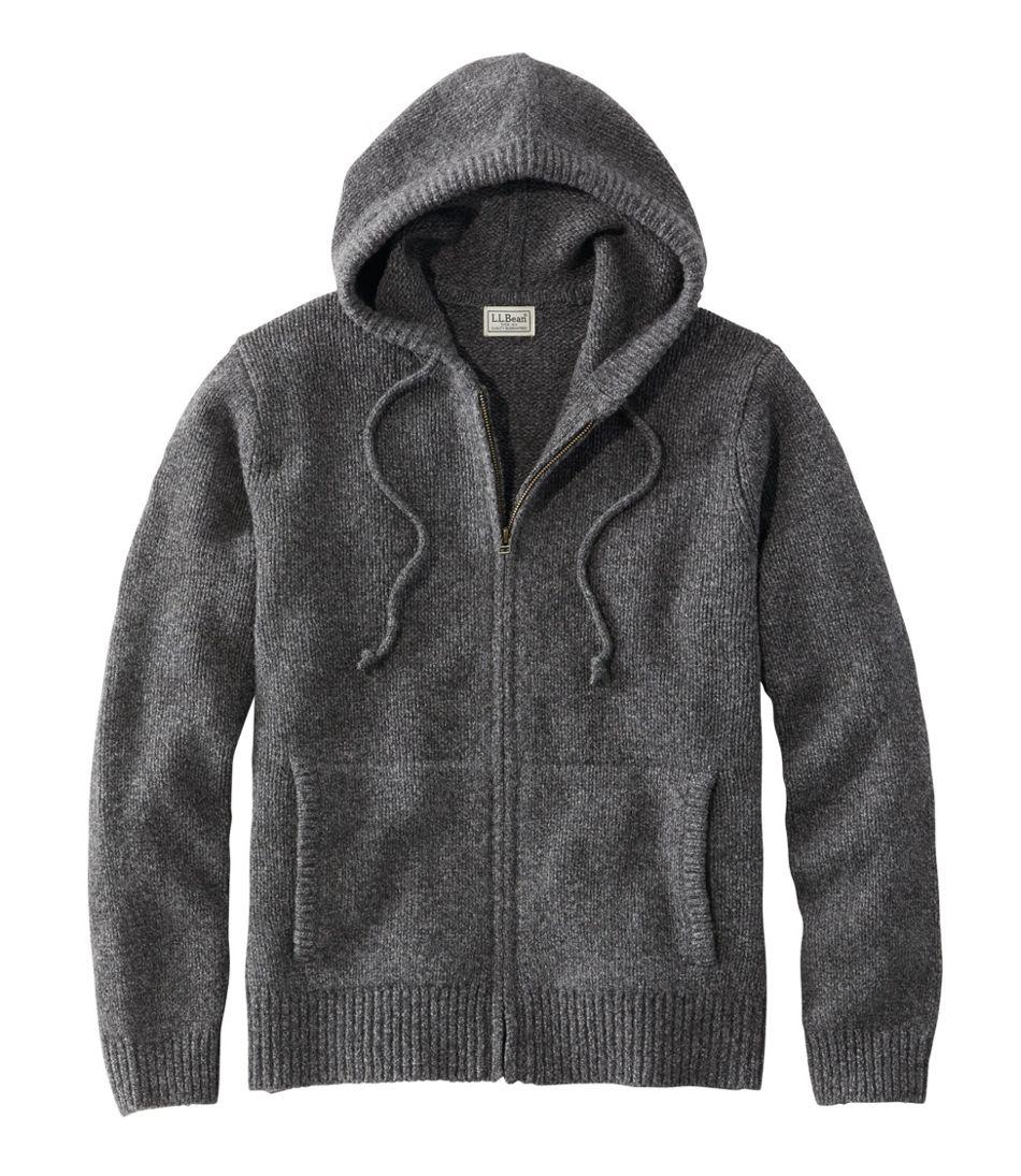 Men's L.L.Bean Classic Ragg Wool Sweater, Zip Hoodie