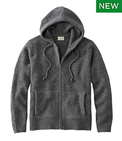 L.L.Bean Classic Ragg Wool Sweater, Zip Hoodie